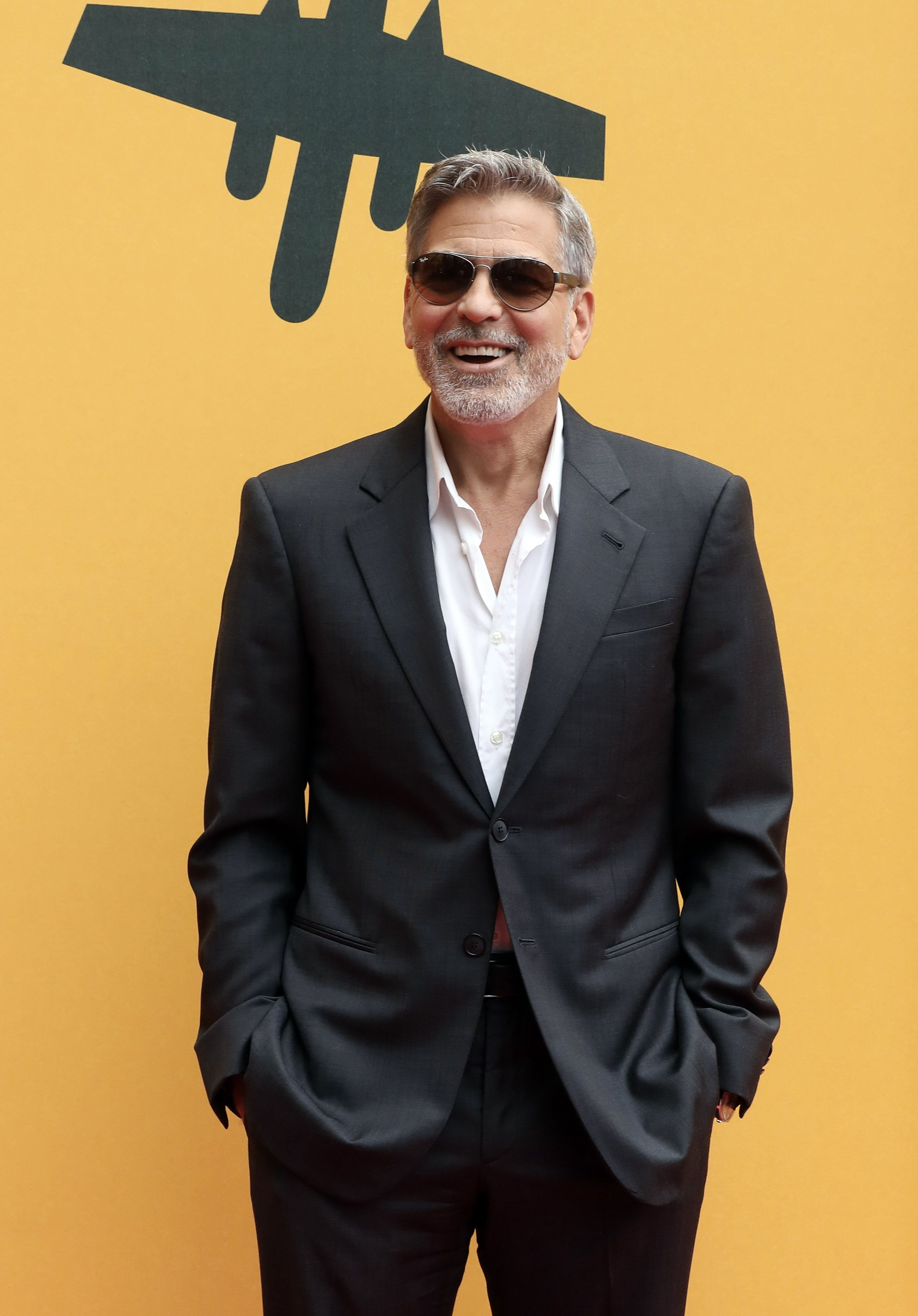 """George Clooney attends the """"Catch-22"""" photocall at The Space Moderno Cinema on May 13, 2019 