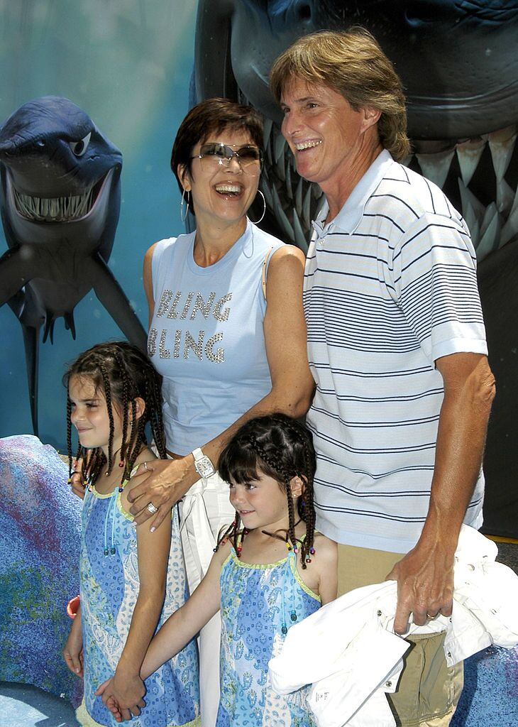 Bruce Jenner, Kris Jenner and daughters Kendall and Kylie | Source: Getty Images