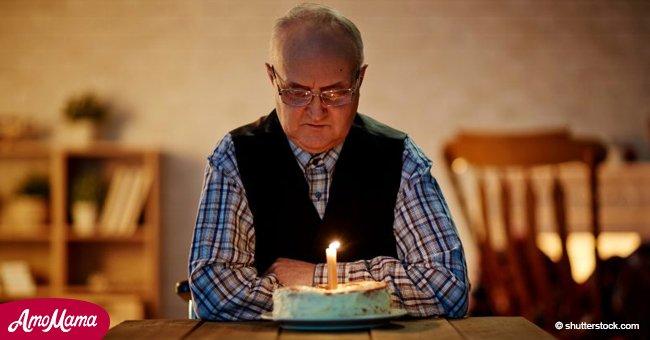 Die Besucher eines Restaurants machten den Geburtstag eines 61-jährigen, der von seiner Familie verlassen worden war, unvergesslich