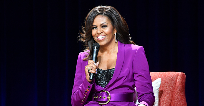 Michelle Obama Flaunts Cleavage during Her 'Becoming' World Tour