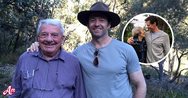 A collage of Hugh Jackman with his dad and mom | Photo: Instagram.com/thehughjackman