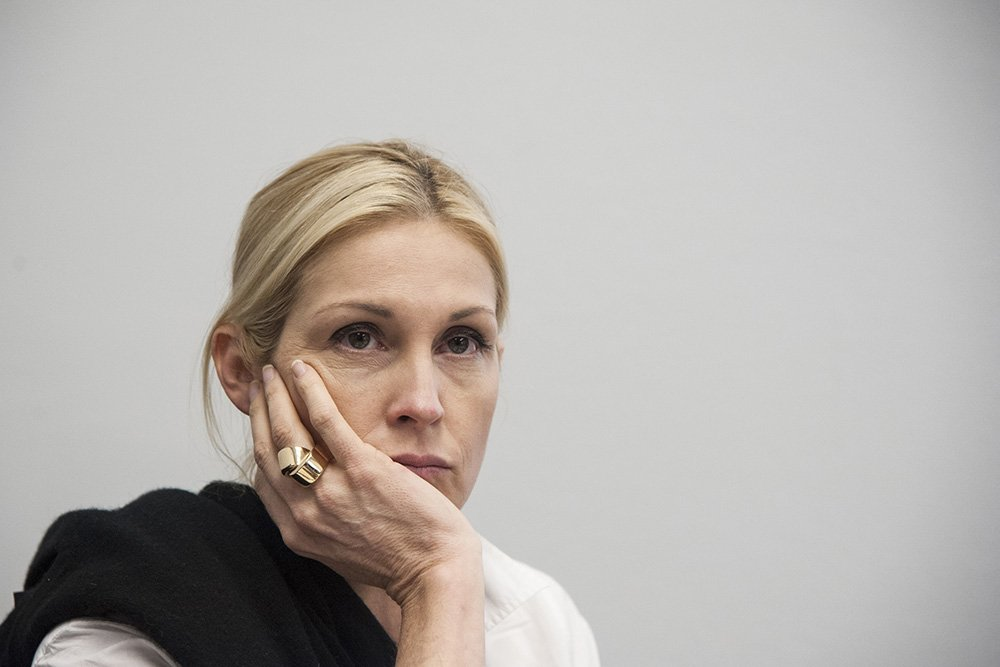 Kelly Rutherford, founder of Children's Justice Campaign, speaks during a Capitol Hill briefing on June 25, 2015 in Washington DC. I Image: Getty Images.