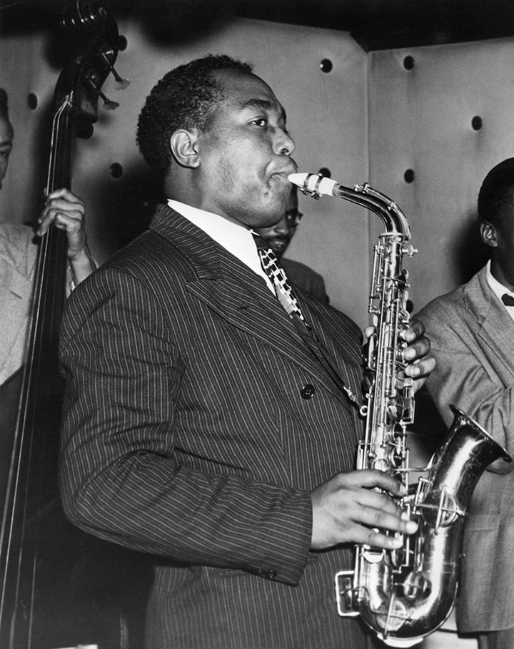 Charlie Parker playing at the Three Deuces in New York City in 1945. I Image: Getty Images.