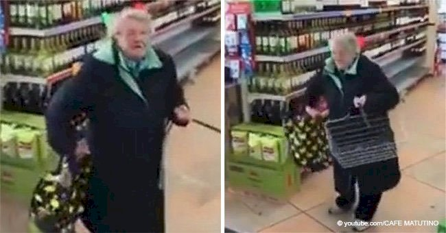 Granny hears favorite song in a supermarket and her dance moves stunned employees