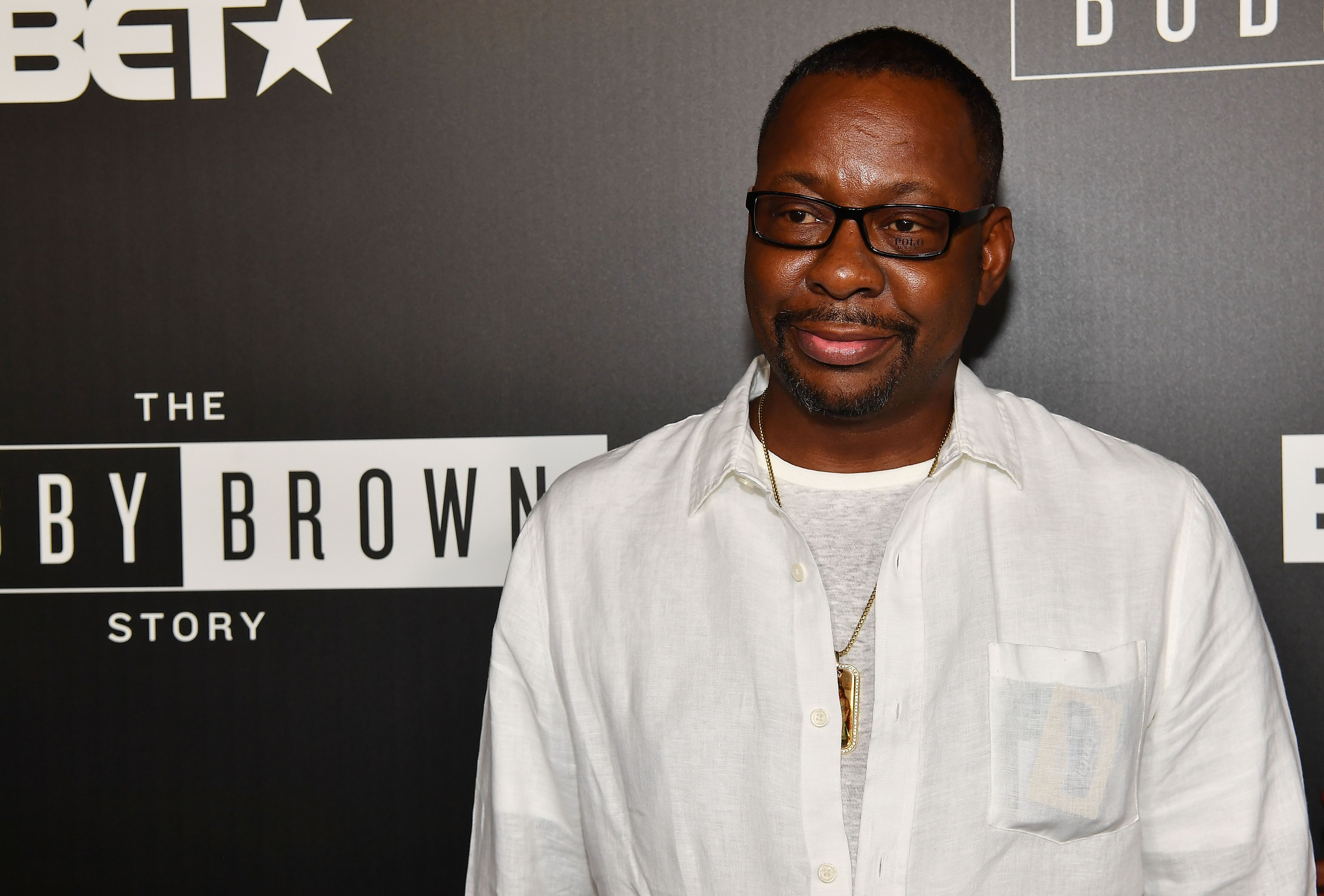 "Bobby Brown attends The ""Bobby-Q"" Atlanta Premiere Of ""The Bobby Brown Story"" at Atlanta Contemporary Arts Center. 