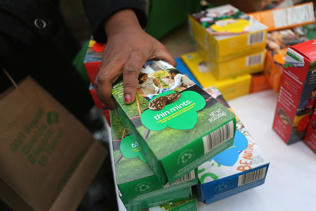Girl Scouts sell cookies on February 8, 2013 in New York City.   Photo: Getty Images