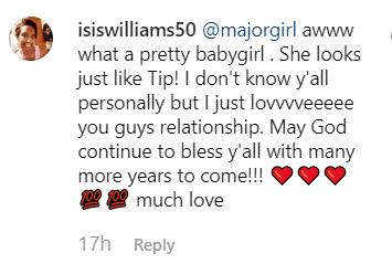 Screenshot of fan comment   Photo: Instagram/majorgirl