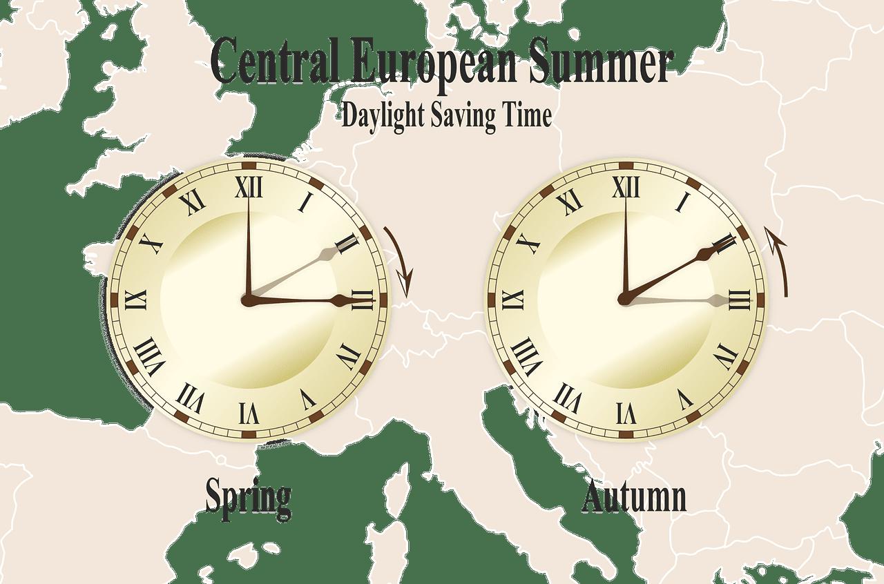 L'heure d'été en Europe Centrale, printemps-automne. | Photo: Pixabay