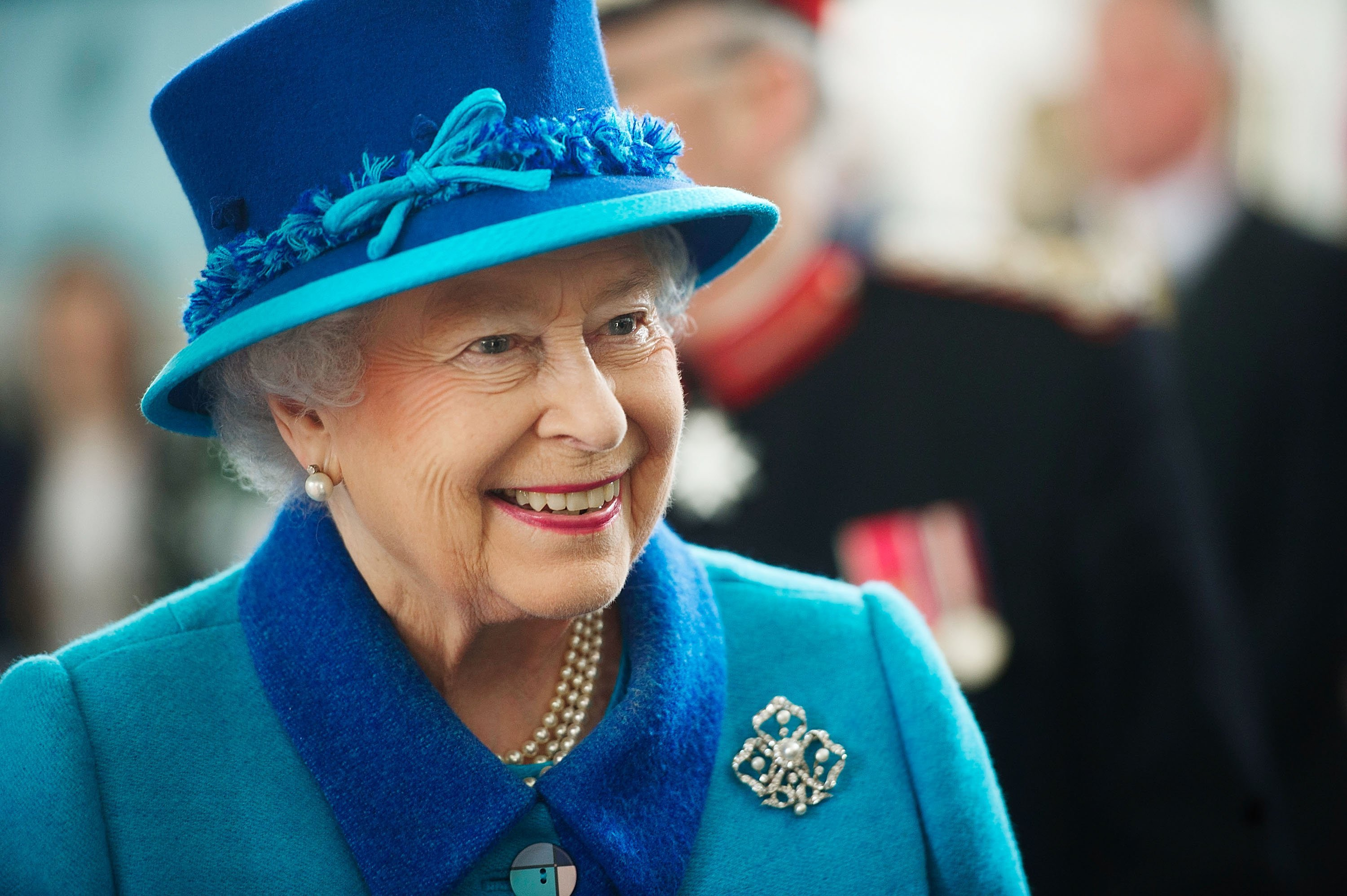 Queen Elizabeth II during a visit to the Chapel at the Royal Dockyard Chapel on April 29, 2014 | Photo: GettyImages