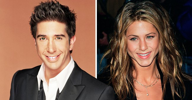 Portraits of David Schwimmer and Jennifer Aniston | Photo: Getty Images
