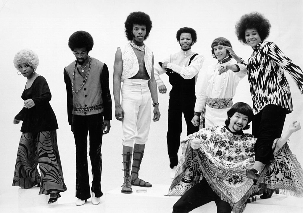 """Psychedelic soul group """"Sly & The Family Stone"""" pose for a portrait in 1968.   Photo: Getty Images"""