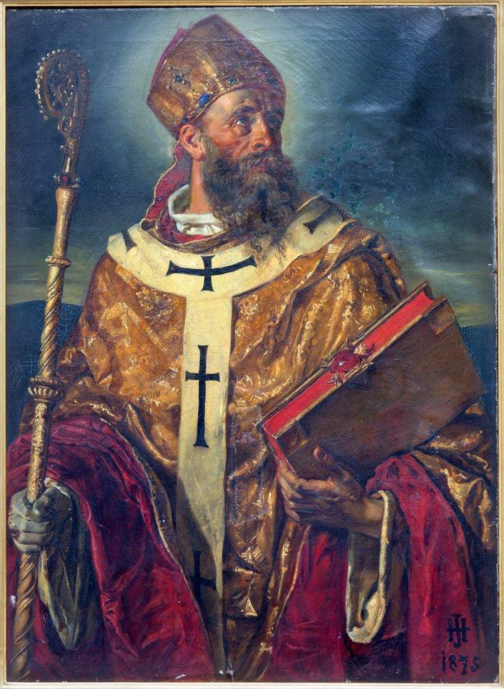 Pintura de San Agustín en la iglesia de Agustín Viena.| Fuente: Shutterstock