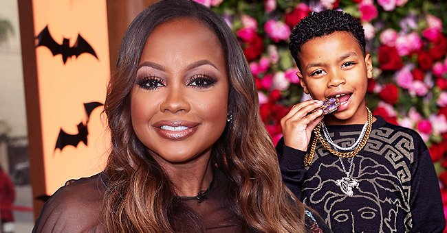 Phaedra Parks' Son Poses in a Versace Jumper and an Oversized Necklace on His 8th Birthday