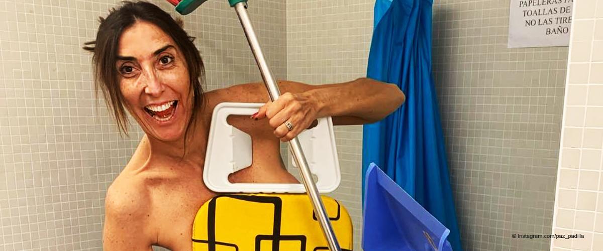 Paz Padilla comparte su primera imagen desnuda como prometió, y es más graciosa que sexy