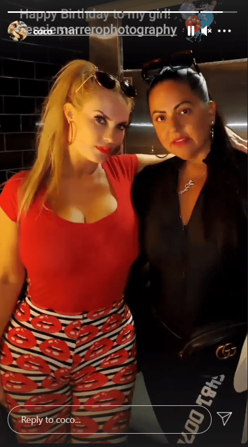 Coco Austin shares a picture with her friend as a tribute to her birthday.   Photo: Instagram/coco