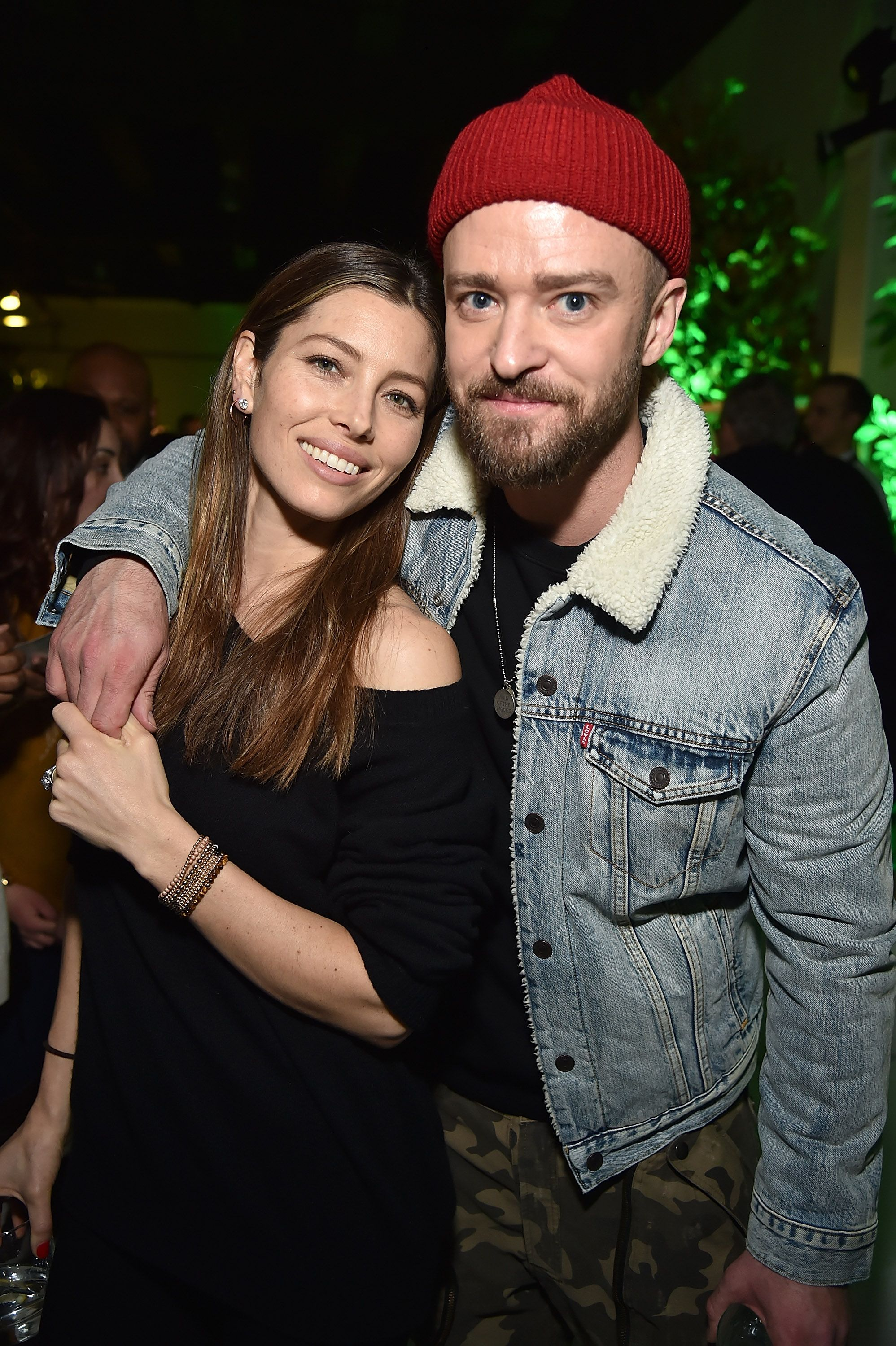 "Jessica Biel and Justin Timberlake at the American Express x Justin Timberlake ""Man Of The Woods"" in New York in 2018 