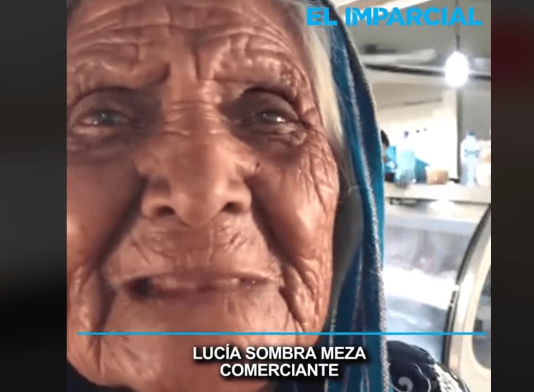 Doña Lucía en entrevista │Imagen tomada de: Facebook / El Imparcial