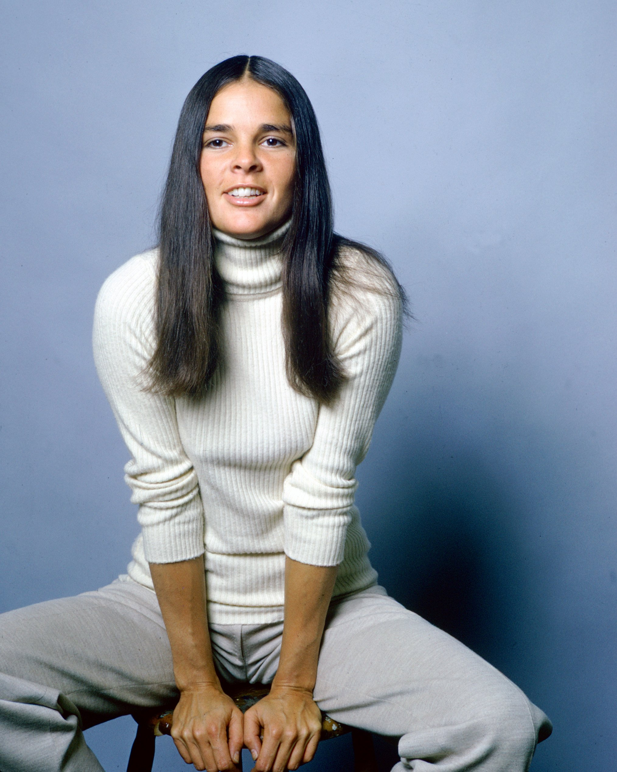 Ali MacGraw, US actress, in a publicity still for the film 'Love Story', USA, circa 1970. The 1970 romance, directed by Arthur Hiller, starred MacGraw as 'Jenny Cavalleri'.  Photo: Getty Images