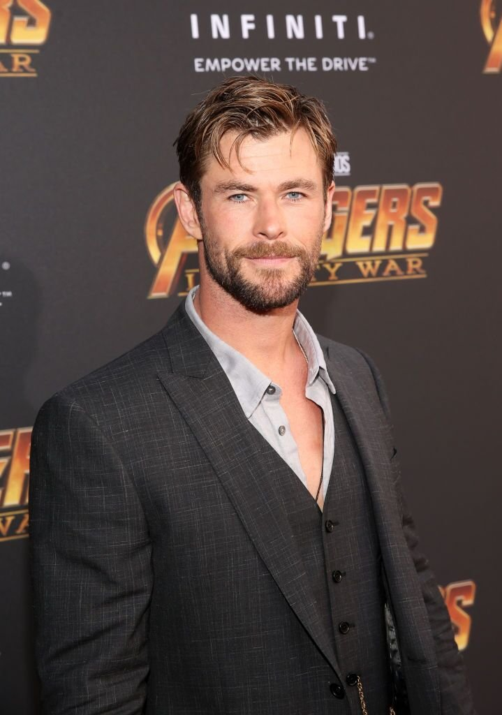 "Chris Hemsworth attends the Los Angeles Global Premiere for Marvel Studios ""Avengers: Infinity War."" 