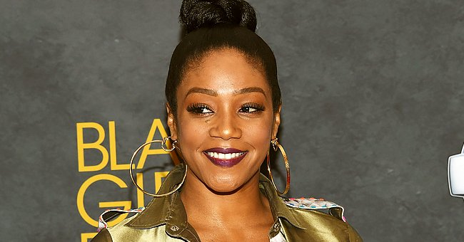 Check Out Tiffany Haddish's Slimmed-down Body & Short Hair as She Poses in Long Colorful Dress