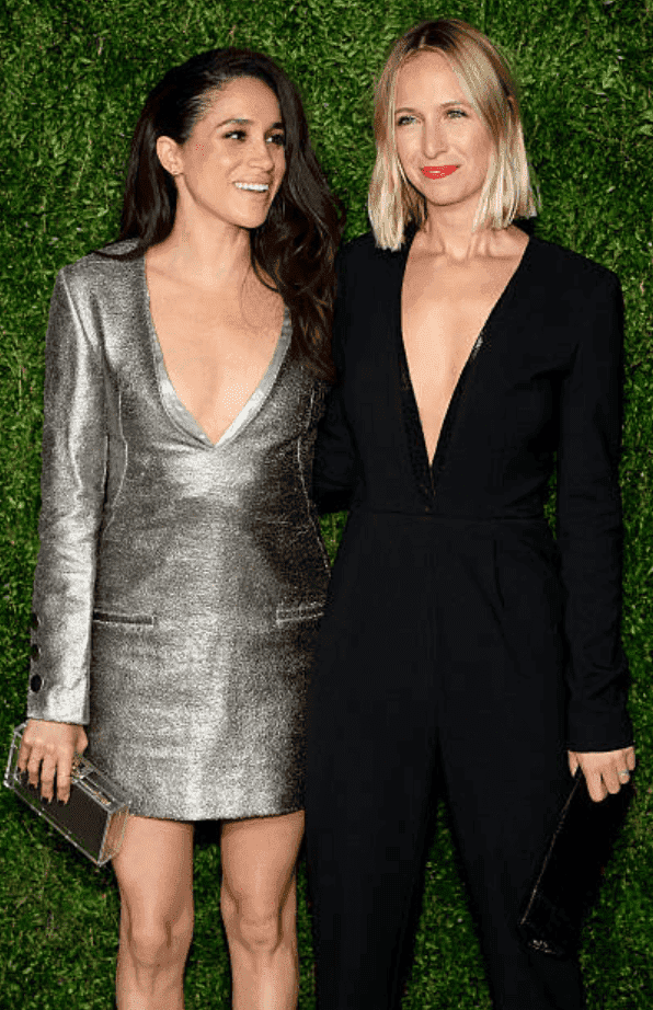 Meghan Markle and Misha Nonoo pose together at 12th annual CFDA/Vogue Fashion Fund Awards on November 2, 2015, in New York City | Source Getty Images