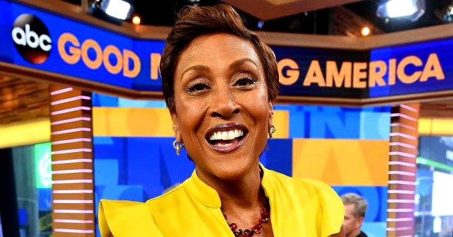GMA's Robin Roberts Looks Classy in a Beaded Pink Dress and Gold Heels in a Stunning Photo