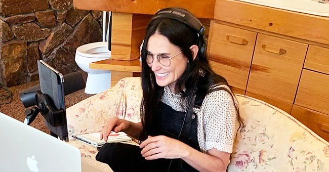 Take a Look at Where Demi Moore Set up Her Work-From-Home Station in New Photos