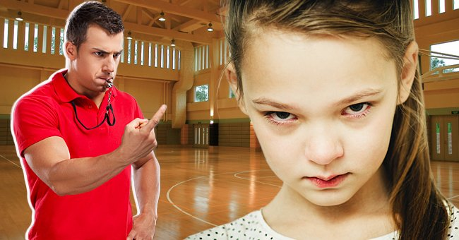 A girl looks upset while a coach points at her.   Source: Shutterstock