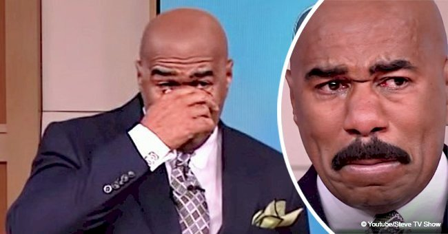 TV host Steve Harvey broke down crying after seeing his mom's house in a video