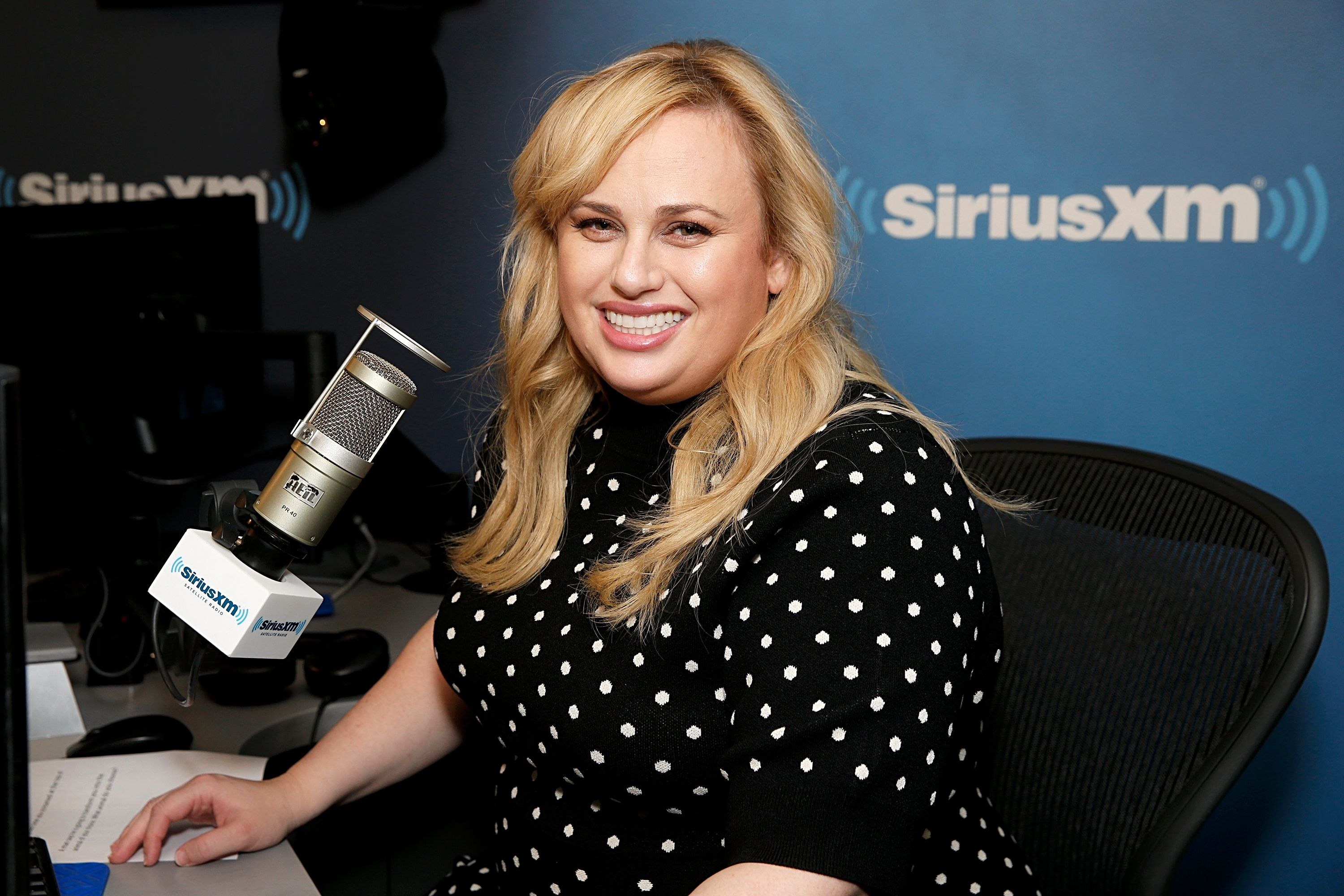 Rebel Wilson goes to SiriusXM Studios on April 26, 2019 in New York City.   Source: Getty Images