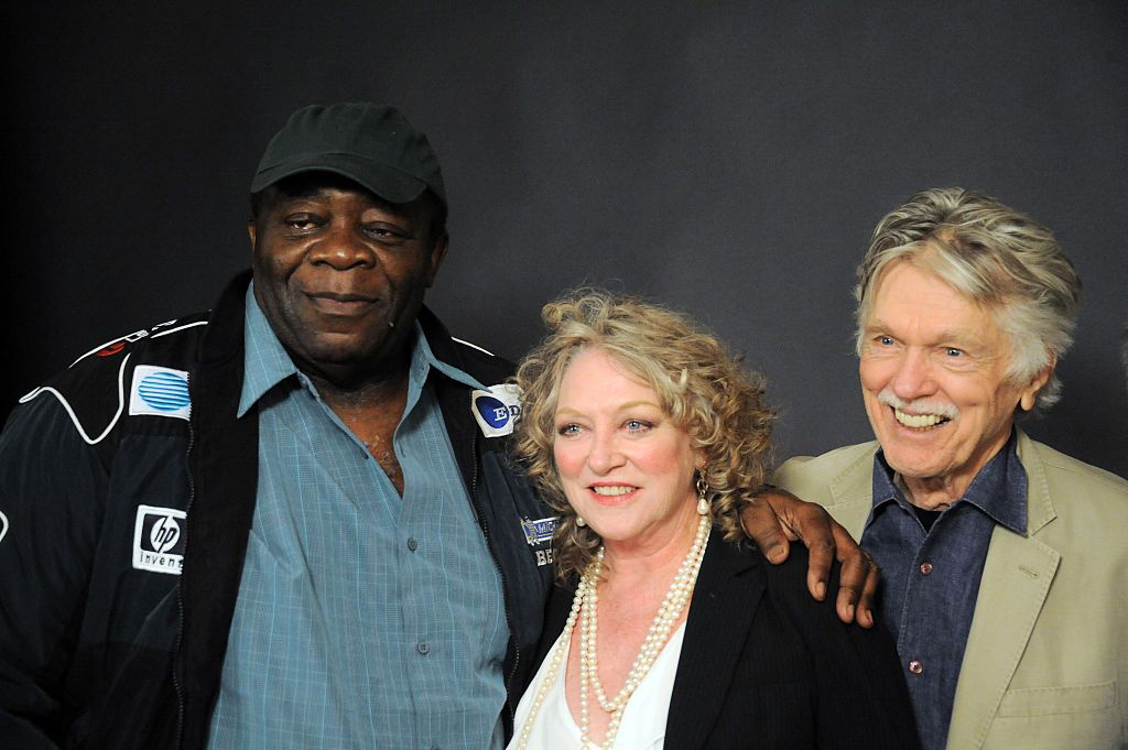 """Yaphet Kotto, Veronica Cartwright and Tom Skeritt of """"Alien"""" during the Hollywood Show held at the LAX Westin Hotel on April 25, 2015 in Los Angeles, California. 