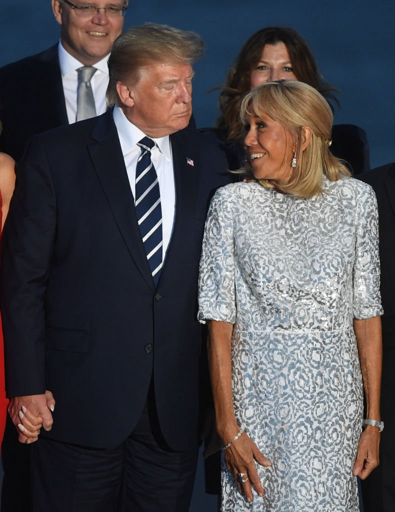 Brigitte Macron et Donald Trump le 25 août 2019 à Biarritz. | Photo : Getty Images
