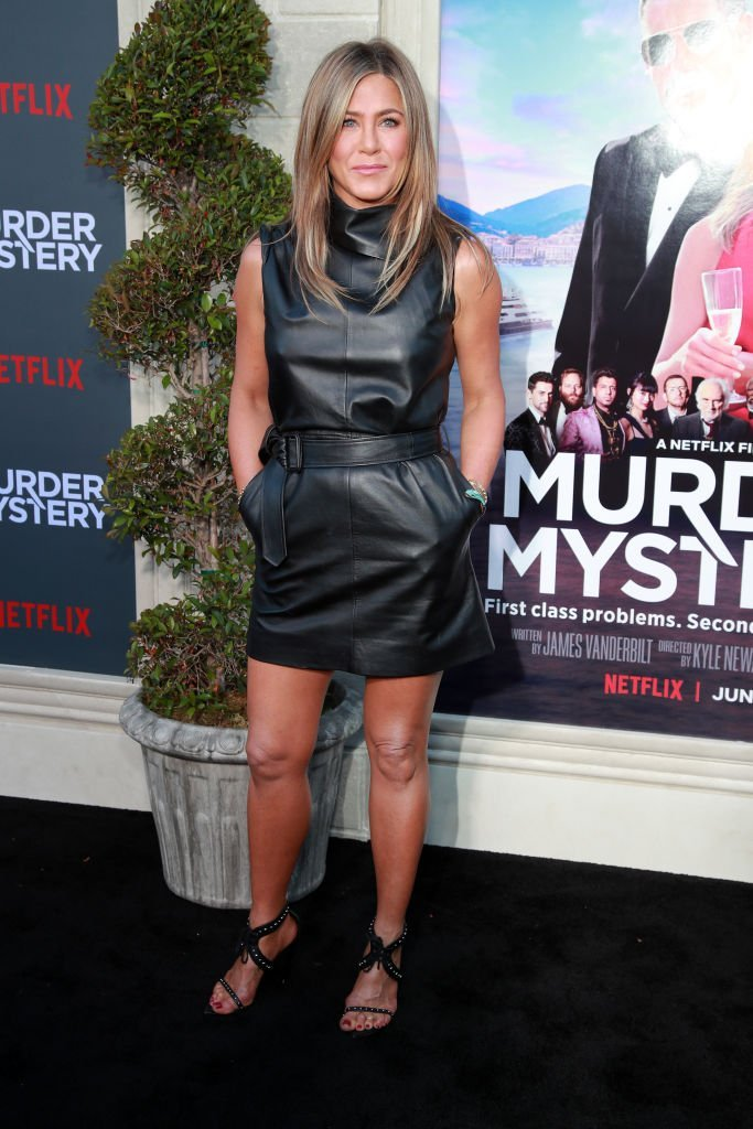 """Jennifer Aniston at a photocall of Netflix's """"Murder Mystery."""" 