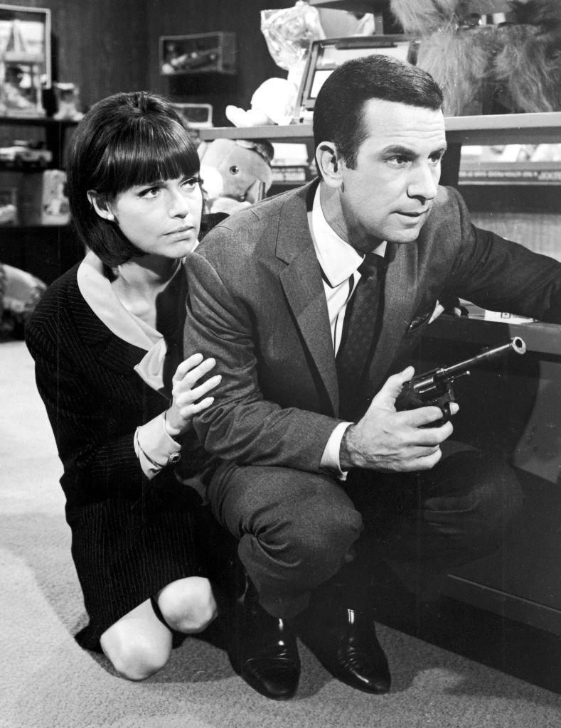 "Barbara Feldon and Don Adams shooting ""Get Smart"" circa 1967 