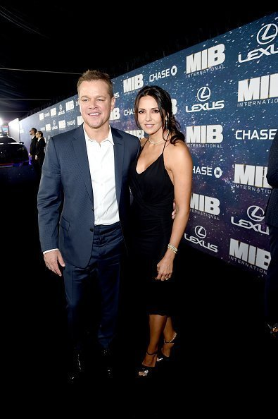 Matt Damon and Luciana Barroso on June 11, 2019 in New York City | Source: Getty Images