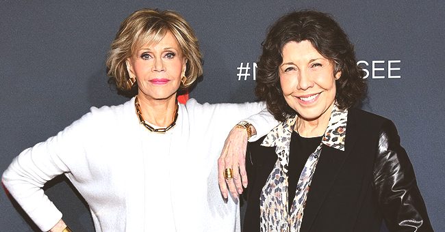 Jane Fonda and Lily Tomlin Attend a Promotional 'Grace & Frankie' Red Carpet Event Together