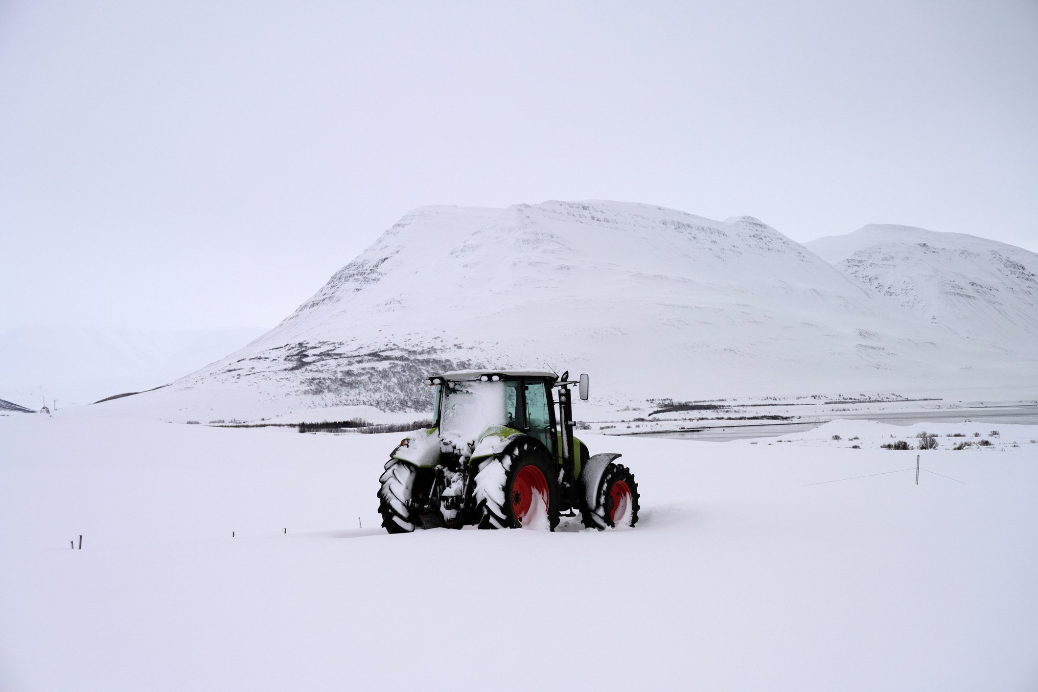 Photo of a tractor at Greinivik, Norðurland eystra, North Iceland | Photo: Getty Images
