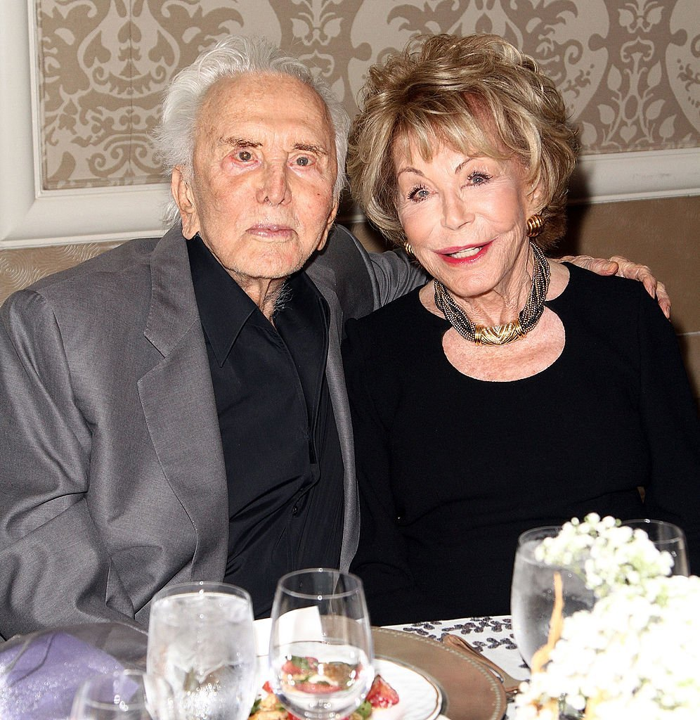 Kirk Douglas and his wife Anne Douglas attend The Los Angeles Mission and Anne Douglas Center for Women Gala at Four Seasons Hotel Los Angeles at Beverly Hills on September 24, 2013, in Beverly Hills, California. | Source: Getty Images.