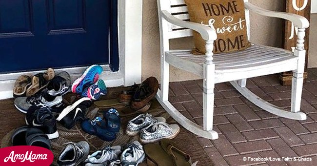 Mother of two teenagers shared message about 'shoes on the front porch' and it went viral