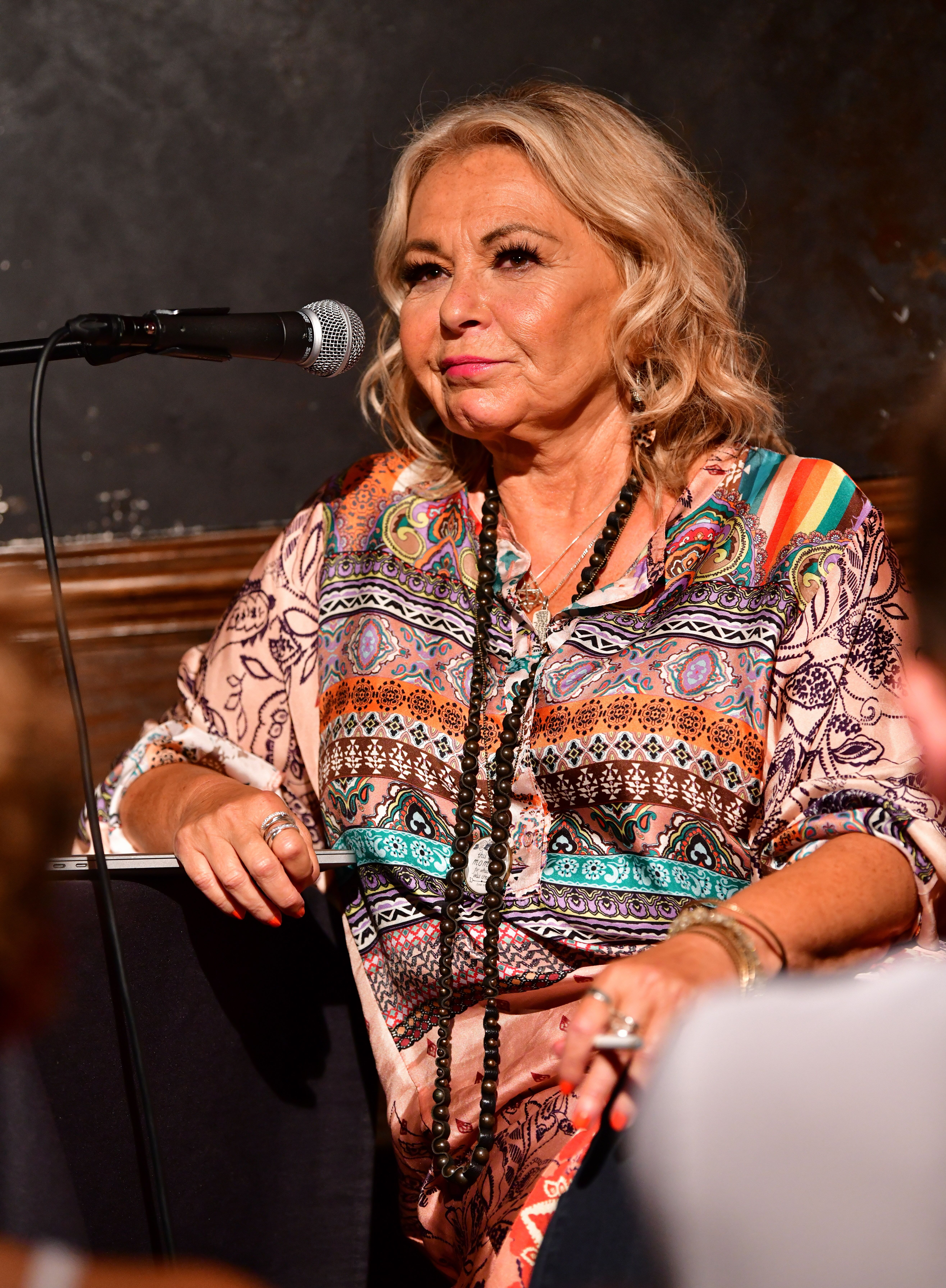 Roseanne Barr attends live podcast at Stand Up. | Source: Getty Images