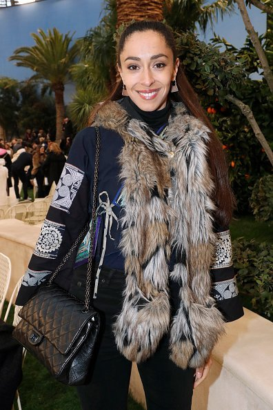 Oona Chaplin at the Chanel Haute Couture Spring Summer 2019 on January 22, 2019 | Photo: Getty Images