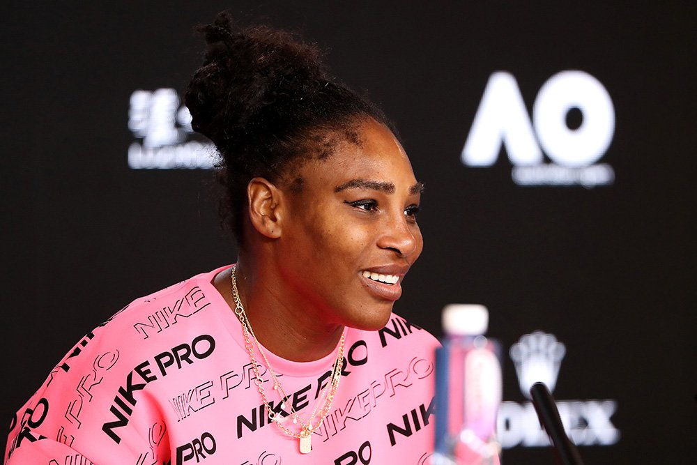 Serena Williams speaks to media on day five of the 2020 Australian Open at Melbourne Park on January 24, 2020 in Melbourne, Australia. I Image: Getty Images.