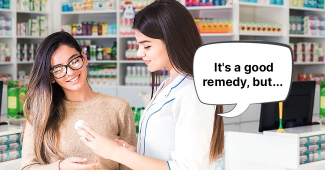 A woman trying to purchase hair removal from a pharmacist. | Photo: Shutterstock