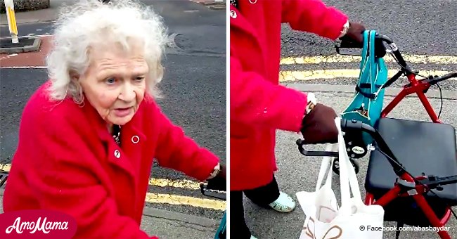 Man filmed the heart-wrenching struggle of a pensioner who can't afford an electric wheelchair