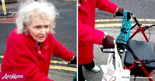 Hombre graba conmovedoras dificultades de anciana que no puede costear silla de ruedas eléctrica