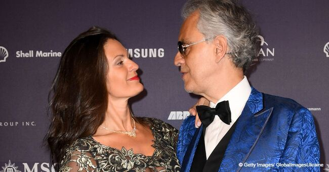 Andrea Bocelli's Much Younger Wife Flashes Bra in Seductive Sheer Dress at Red Carpet Event