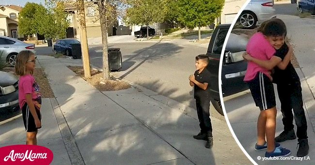 Young boy sings to bullied school girl to cheer her up and his performance goes viral