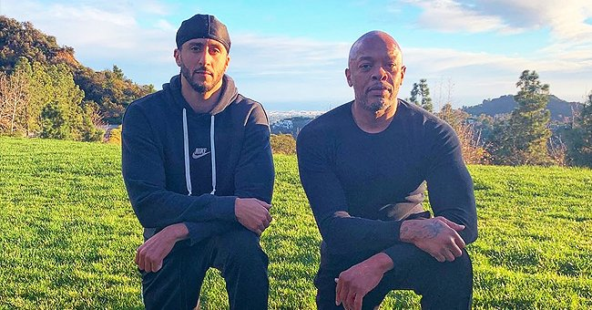 Check Out This Powerful Picture of Dr Dre Taking a Knee with Colin Kaepernick