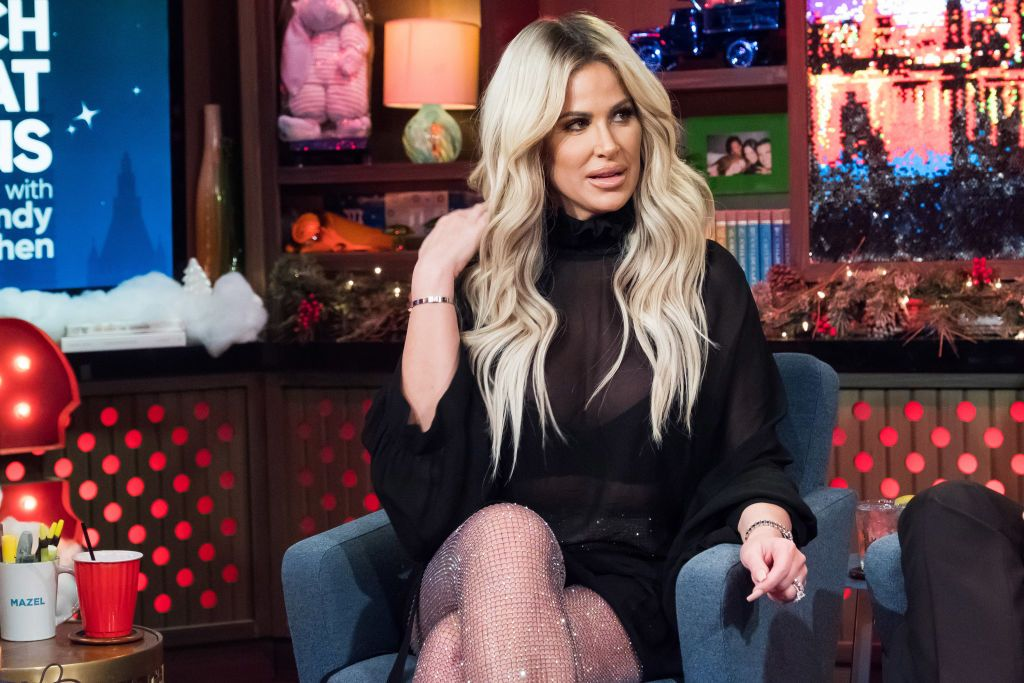 Kim Zolciak-Biermann at Watch What Happens Live With Andy Cohen - Season 14 on December 17, 2017 | Photo: Getty Images