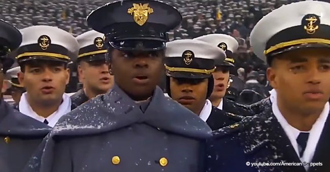 Throwback Video of Army-Navy Choir Doing a Spellbinding Performance of the National Anthem